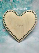 Дно для корзины Сердце 25*23 см фанера 3 мм